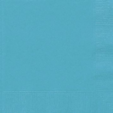 20 Teal Paper Party Beverage Napkins